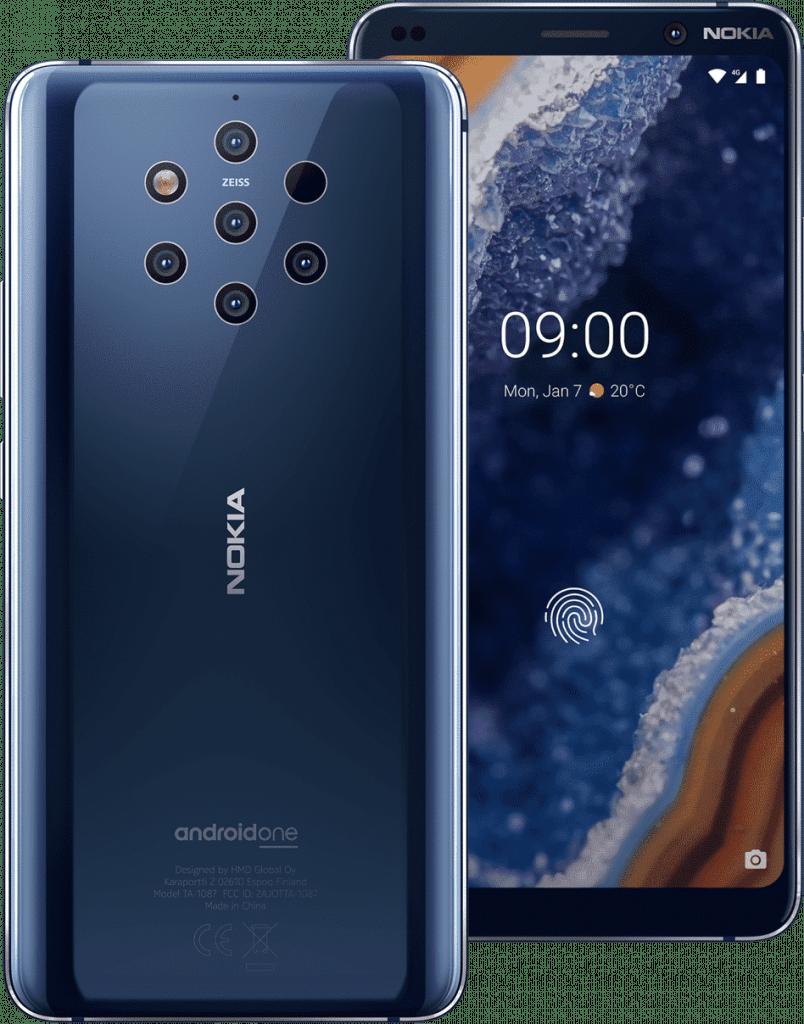 móvil nuevo con 5 cámaras Nokia 9 pureview