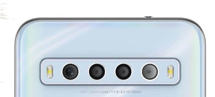 tcl 10L cámara