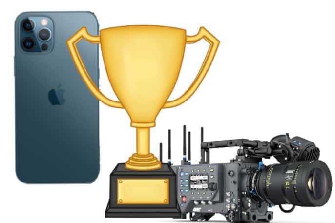 iphone 12 pro vs cámara profesional
