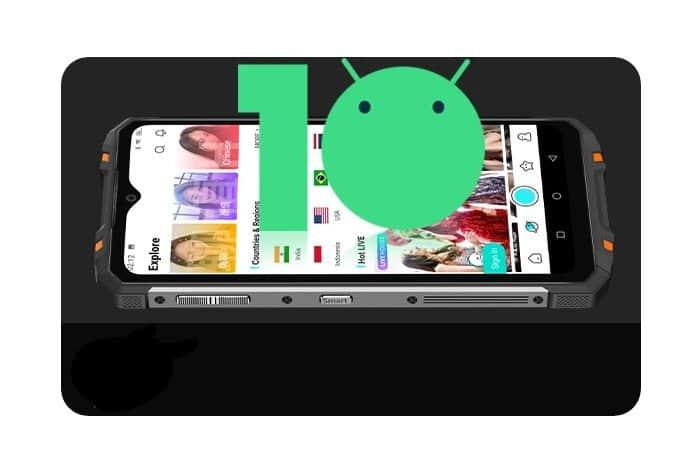 Android 10 en oukitel wp8 pro