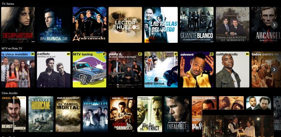 pluto tv españa catalogo