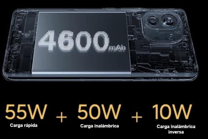 batería y velocidad de carga del xiaomi mi 11