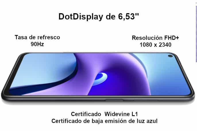 Redmi Note 9T pantalla